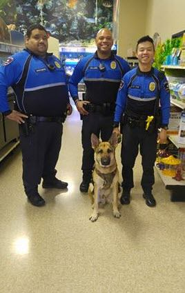 Arlington Police Department posted this on their page about Ho'akoa!! Proud of you big boy!!